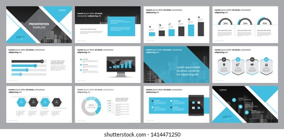 business presentation backgrounds design template and page layout design for brochure ,book , magazine, annual report and company profile , with infographic elements graph design concept