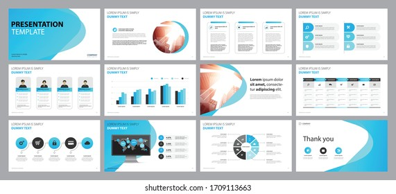 business presentation backgrounds design template and page layout design for brochure ,book , magazine, annual report and company profile , with infographic  elements design concept