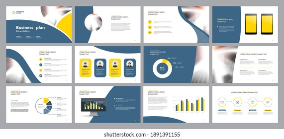 business presentation backgrounds design template and page layout design for brochure ,book , magazine,annual report and company profile , with infographic elements graph design concept