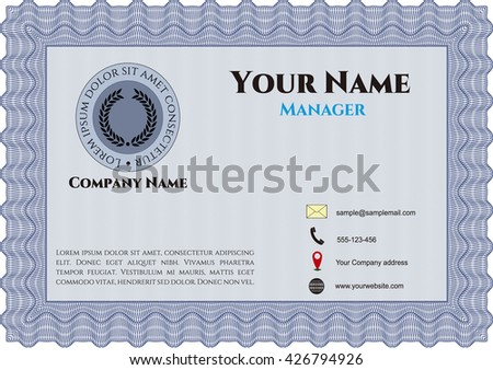 18c0a6ad5f Business Presentation Card Vintage Style Sophisticated Stock Vector ...