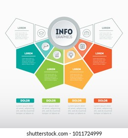 Business presentation concept with 4 options. Web Template of a sales pipeline, purchase funnel, info chart or diagram. Vector infographic of technology or education process with 4 steps.