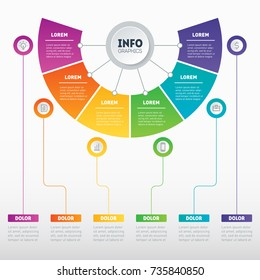 Business presentation concept with 5 options. Web Template of a sales pipeline, purchase funnel, sales funnel, info chart or diagram. Infographic of technology or education process with 5 steps