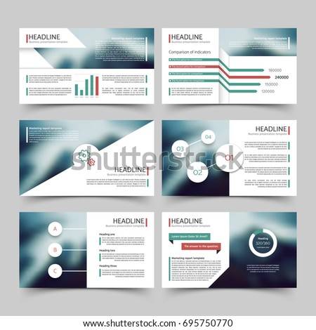 business presentation corporate marketing report vector stock vector