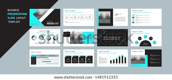 Business Presentation Design Template Page Layout Stock Vector Royalty Free 1481912333