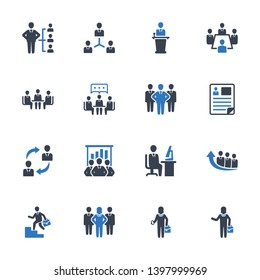 Business Presentation Icons - Blue Series - Set 3