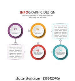 Business presentation or infographic with 4 options.