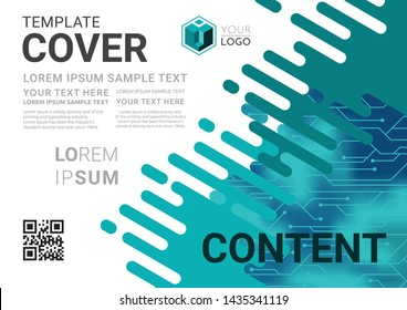 Business Presentation layout design template. Flyer Design, Annual report, Cover design template, Science technology concept, Flat style vector illustration artwork A4 size.