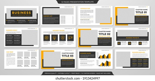 Business presentation layout template design with minimalist style and modern concept use for business proposal