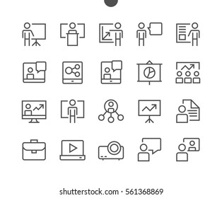 Business Presentation Outlined Pixel Perfect Well-crafted Vector Thin Line Icons 48x48 Ready for 24x24 Grid for Web Graphics and Apps with Editable Stroke. Simple Minimal Pictogram Part 1-1