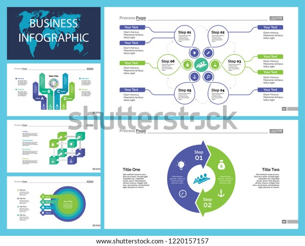 Business Presentation Page Design Set Can Stock Vector Royalty Free 1220157157
