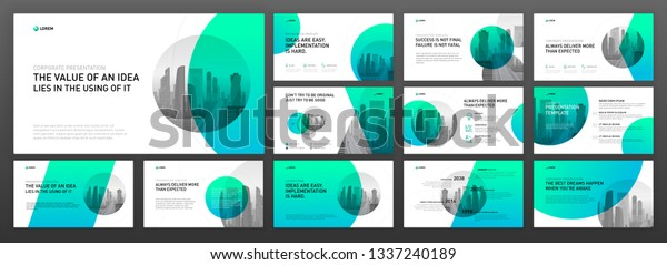 Business Presentation Powerpoint Templates Set Use Stock