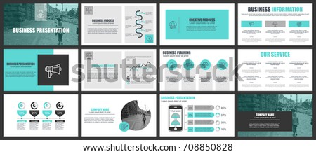 business presentation slides templates infographic elements stock