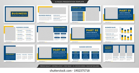 business presentation template with clean concept and minimalist style use for annual report and business profile