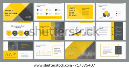 business presentation template design page layout のベクター画像