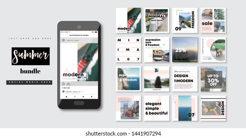 Business presentation template. Set of modern blog posts or Editable simple info banner, trendy book cover idea. Social media pack. For app, web mail digital display style. Minimal. beauty cards. ppt