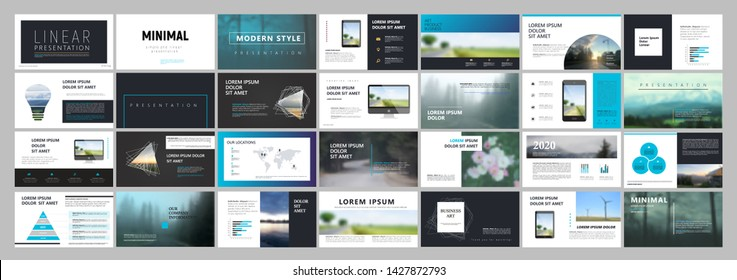 Business presentation template. Social media pack. Set of modern blog posts or Editable simple info banner, trendy book cover idea. For app, web digital display style. Summer flyer. ppt
