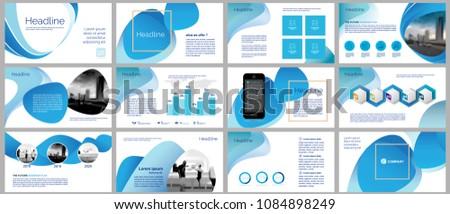 business presentation templates elements design slide stock vector