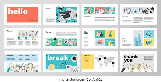 Presentation template images stock photos vectors shutterstock business presentation templates flat design vector infographic elements for presentation slides annual report cheaphphosting