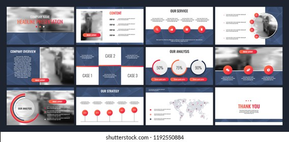 Business presentation templates from infographic elements.