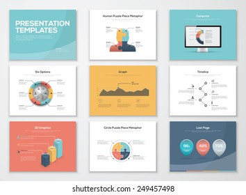Business presentation templates and infographics vector elements. Information graphics for advertisements, magazines, booklets, websites, prints, marketing etc.