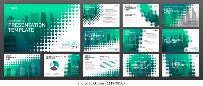 Business presentation templates set. Use for presentation background, brochure design, website slider, landing page design, annual report.