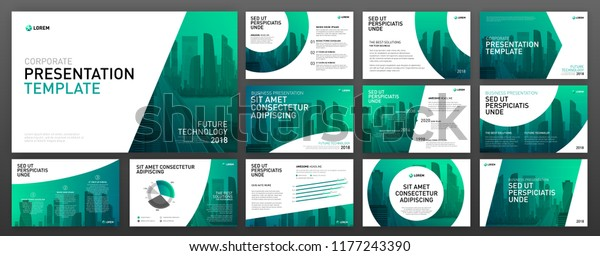Business Presentation Templates Set Use Keynote Stock
