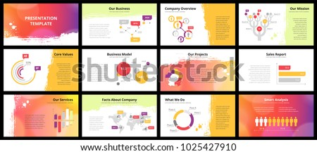 Business presentation templates vector infographic elements stock business presentation templates vector infographic elements for company presentation slides corporate annual report wajeb Images