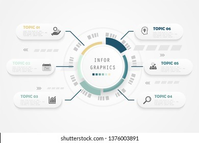 Business Process chart timeline. Abstract elements of graph, diagram with steps, options, parts or processes. Business template for presentation. Creative and Modern concept for infographic.