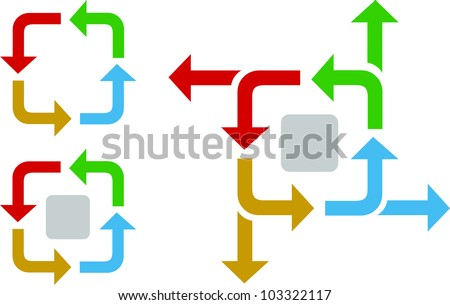 business process flow diagram arrows iterative stock vector (royalty Iterative Process Model business process flow diagram with arrows in an iterative process