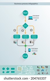 Business process infographics and reusable icon