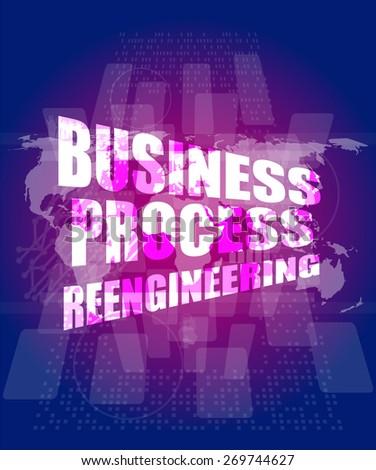 Business process reengineering interface hi technology stock vector business process reengineering interface hi technology business template charts graphs presentation friedricerecipe Images