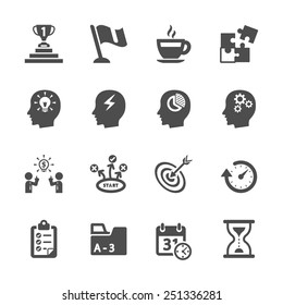 business productivity icon set, vector eps10.