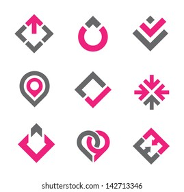 Business professional graphic elements logo and icon set
