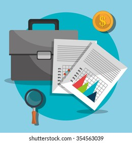 Business profit and sales graphic design, vector illustration eps10