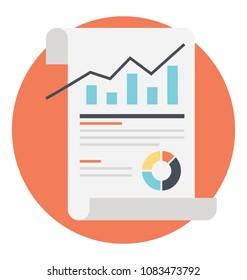 analytics report flat icon stock vector royalty free 743014636