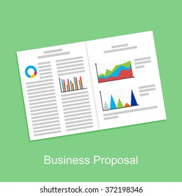 Business proposal, business report, or business paper concept illustration.