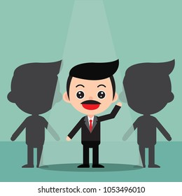 Business recruitment hiring concept. Focus on the people who are featured. In a cute cartoon style. Vector and Illustration