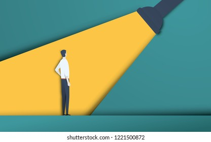 Business recruitment and talent headhunting vector concept in modern 3d paper cutout style. Symbol of hiring, employee search, vacancy. eps10 vector illustration.