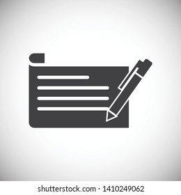 Business related icon on background for graphic and web design. Simple illustration. Internet concept symbol for website button or mobile app.