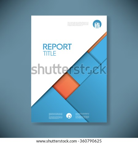 Business report cover template on blue stock vector royalty free business report cover template on blue material design background brochure or presentation title page wajeb Image collections