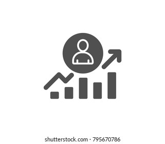 Business results simple icon. Career Growth chart sign. Quality design elements. Classic style. Vector