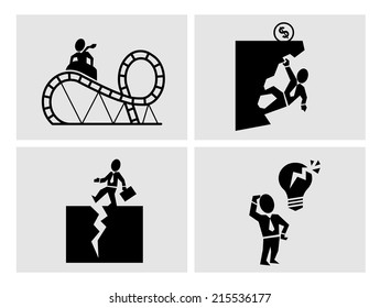 Business risk icons