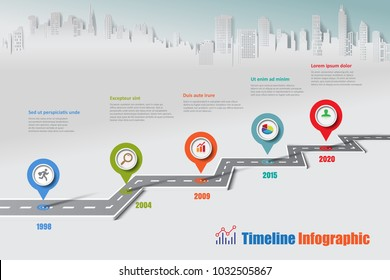 Vetor stock de design template road map timeline infographic livre business road map timeline infographic icons designed for abstract background template milestone element modern diagram process ccuart Choice Image