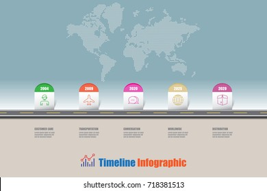 Business road map timeline infographic milestone designed for template digital presentation chart. Vector illustration