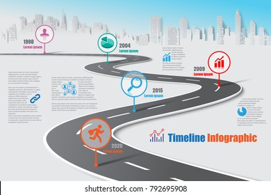 Road map images stock photos vectors shutterstock business road map timeline infographic city designed for abstract background template milestone element modern diagram process ccuart Image collections
