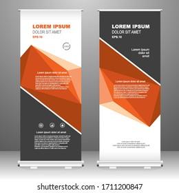 Business Roll up banner vertical template design, for brochure, business, flyer, infographics. modern x-banner and flag-banner advertising. vector illustration