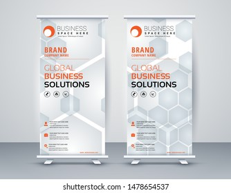 Business Roll Up. Standee Design. Banner Template Modern Minimal. Presentation and Brochure. Vector illustration - Vector