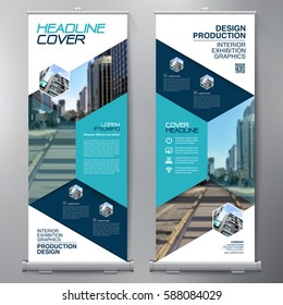 Business Roll Up. Standee Design. Banner Template. Presentation and Brochure Flyer. Vector illustration