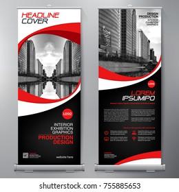 Business Roll Up. Standee Design. Banner Template. Presentation and Brochure Flyer. Vector illustration