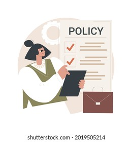 Business rule abstract concept vector illustration. Main company policy, business regulation, IT business analysis, application software, user requirement, data management abstract metaphor.